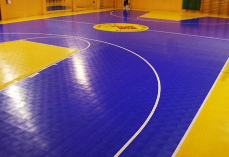 Indoor Basketball Court. Sport Court Defense is